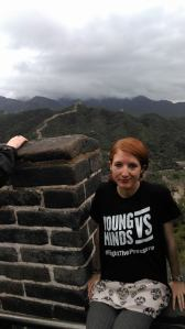 Rocking my YoungMinds Vs tshirt on the Great Wall of China