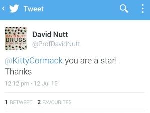 David Nutt tweet